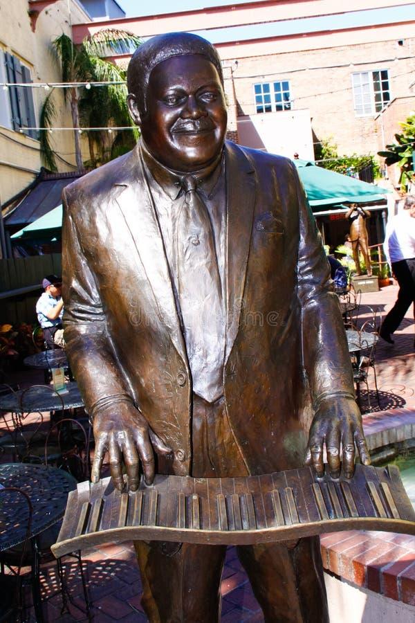 Domino för fett för New Orleans musikalisk legendPark arkivfoto