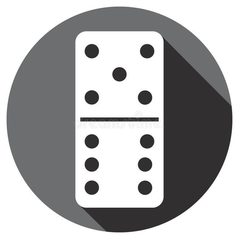Domino flach lizenzfreie abbildung