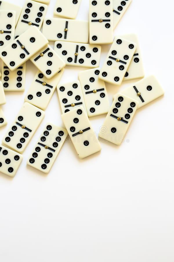 Domino game isolated on the white background royalty free stock photo