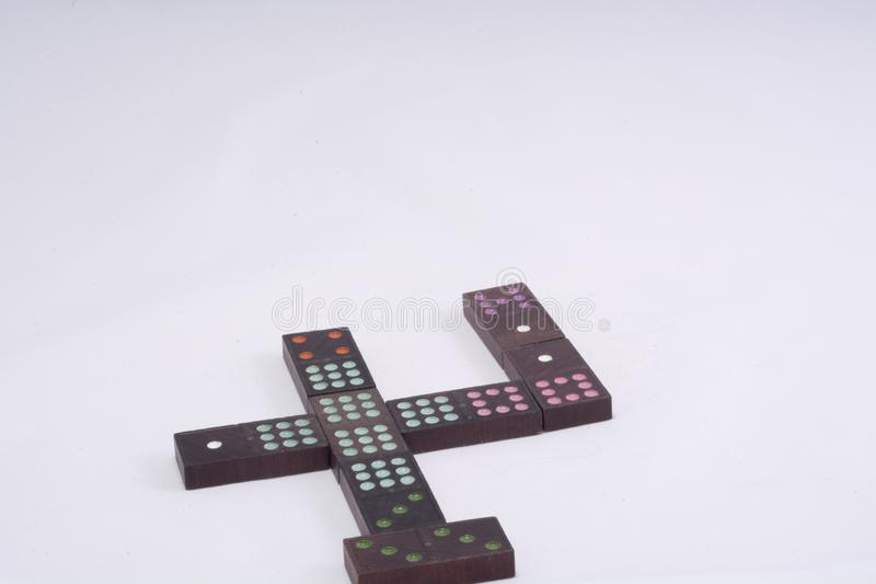 Domino game pieces royalty free stock images