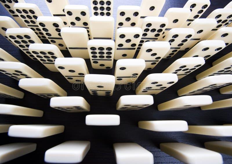 domino gra zdjęcie stock