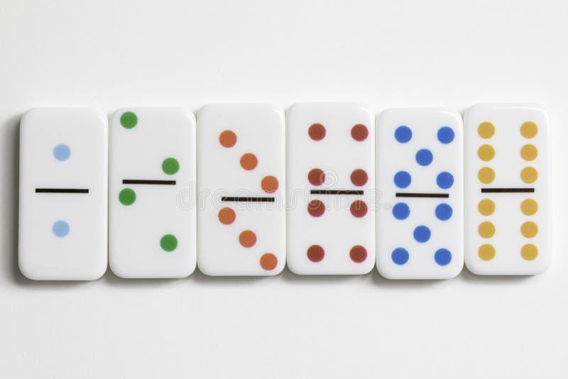 Domino gry kawałki zdjęcie royalty free