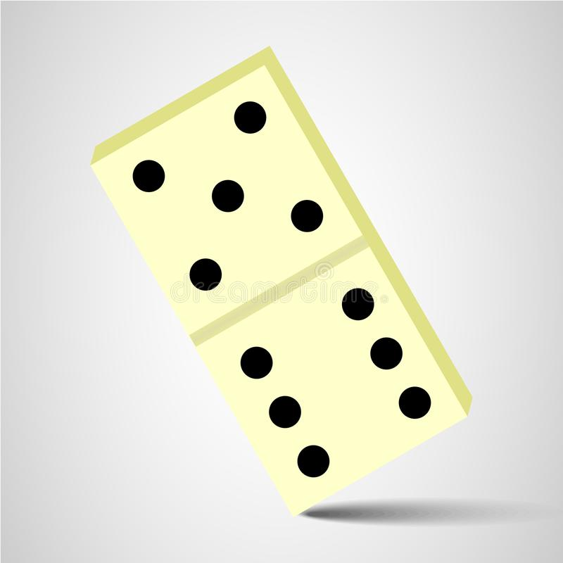 domino icon. domino sign royalty free illustration