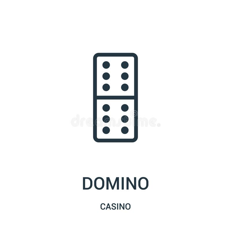 domino icon vector from casino collection. Thin line domino outline icon vector illustration vector illustration