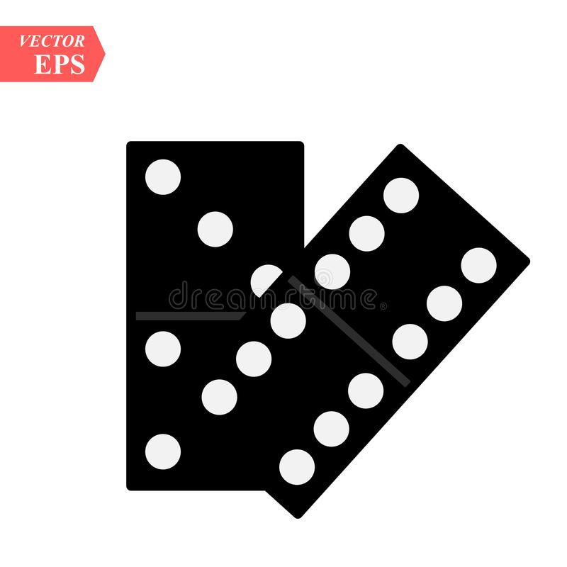 Domino ikona odizolowywająca na białym tle dla twój sieci i wiszącej ozdoby app projekta, domino loga wektorowy pojęcie royalty ilustracja