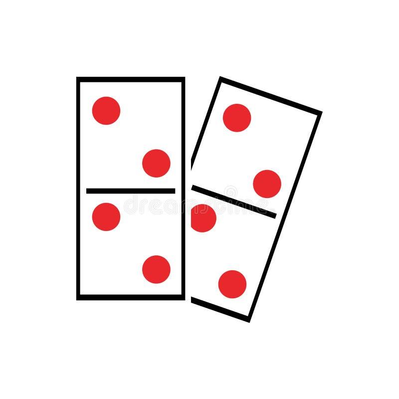 Domino illustration stock