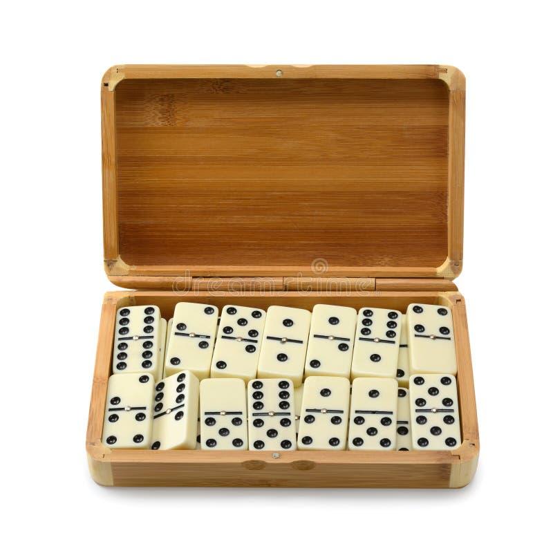 Domino im Kasten stockbilder