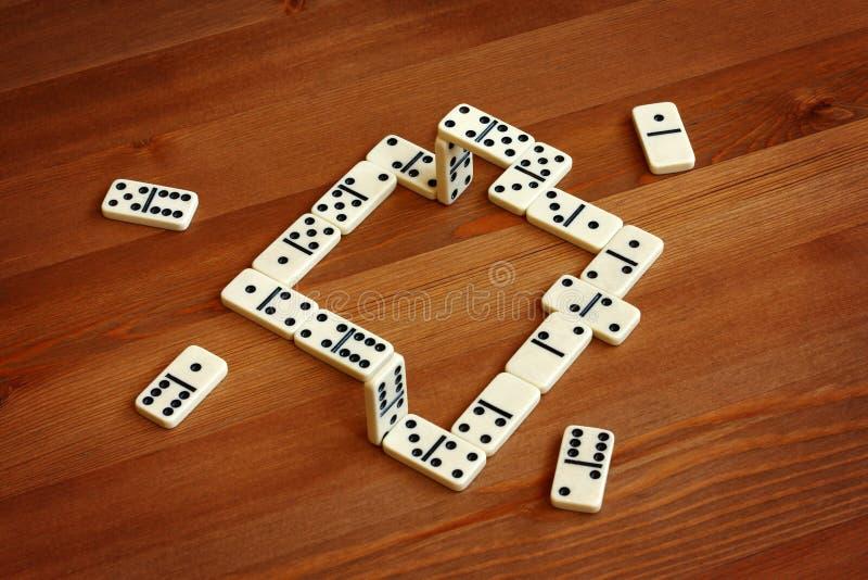 Domino irréel, illusion image stock