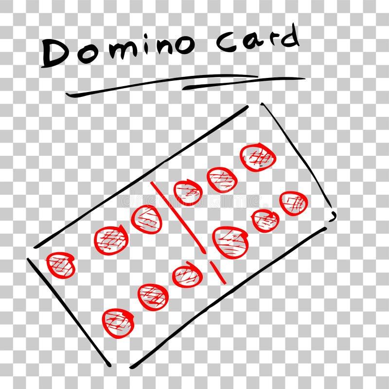 Domino karta przy Przejrzystym skutka tłem ilustracji