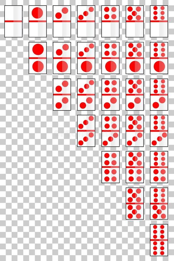 Domino karta przy Przejrzystym skutka tłem ilustracja wektor