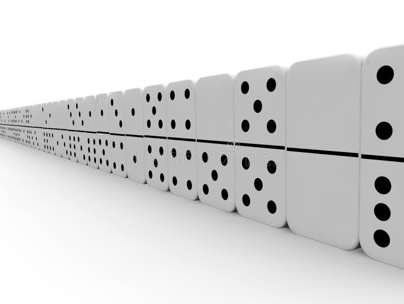 Download Domino kawałki ilustracji. Ilustracja złożonej z domino - 28960338