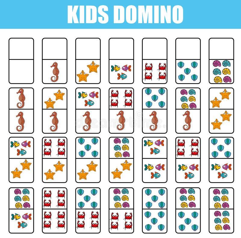 Domino For Kids. Children Educational Game. Printable ...