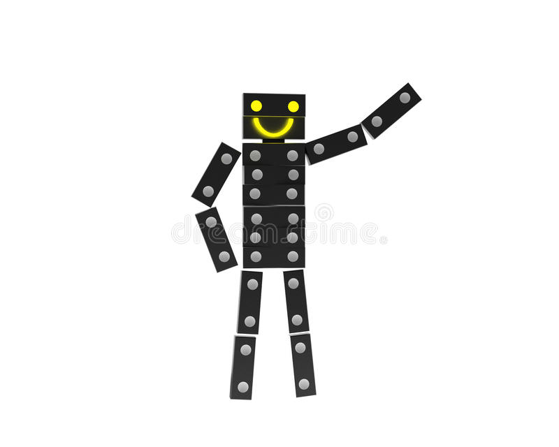 Download Domino man stock illustration. Image of dimensional, concept - 16899765