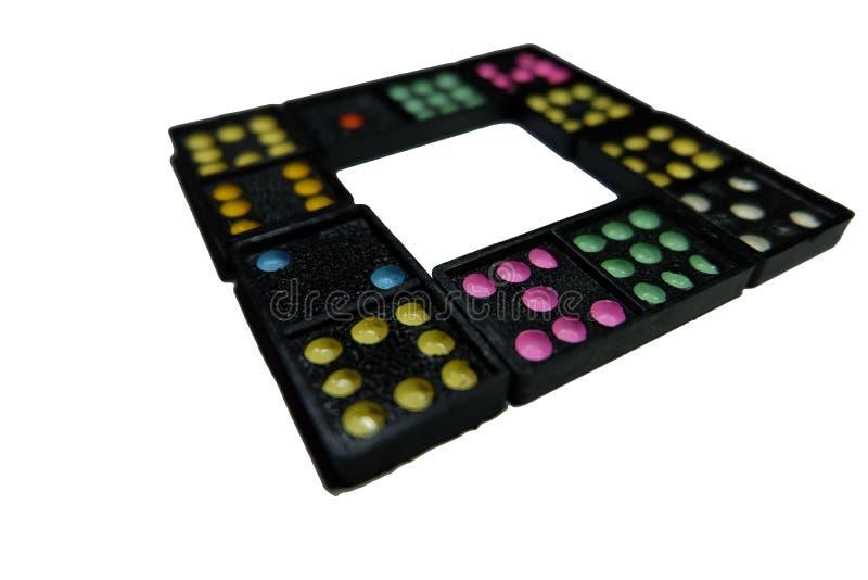 Domino nero su fondo isolato immagine stock libera da diritti