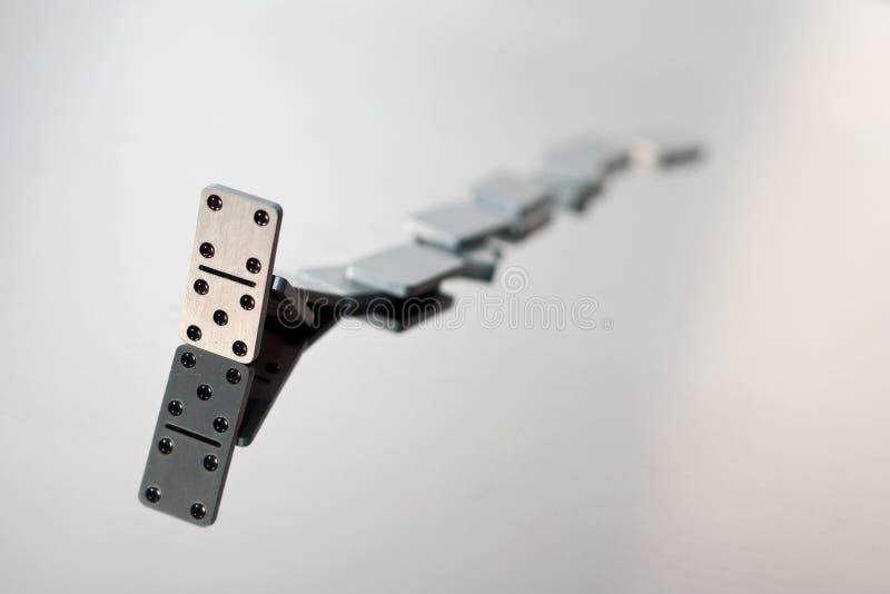 domino objętych kolejka zdjęcie stock