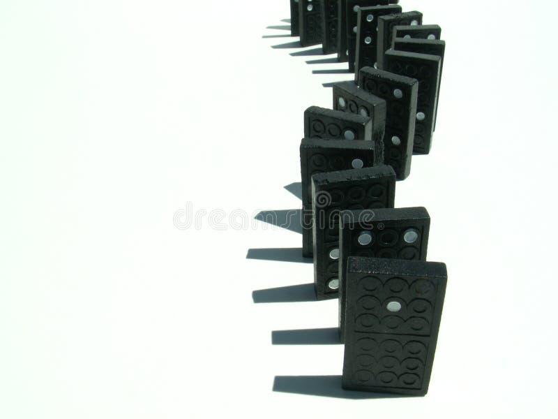 domino odizolowane white zdjęcia stock