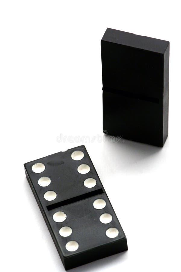 domino odizolowane white zdjęcie royalty free