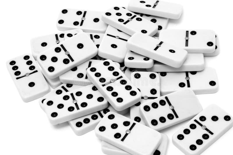 Domino pieces royalty free stock photos