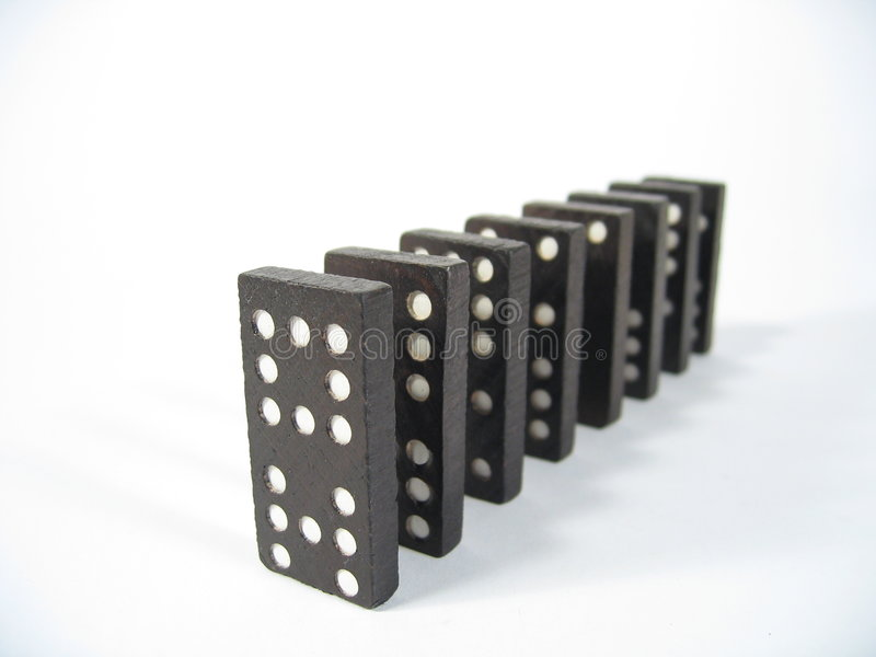 Download Domino Row Front stock photo. Image of dominoes, dominos - 17314