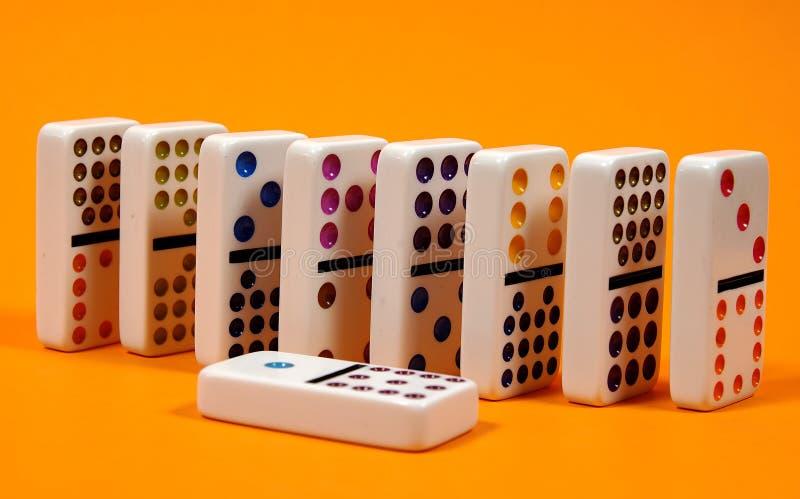 Domino's 3 royalty-vrije stock afbeeldingen