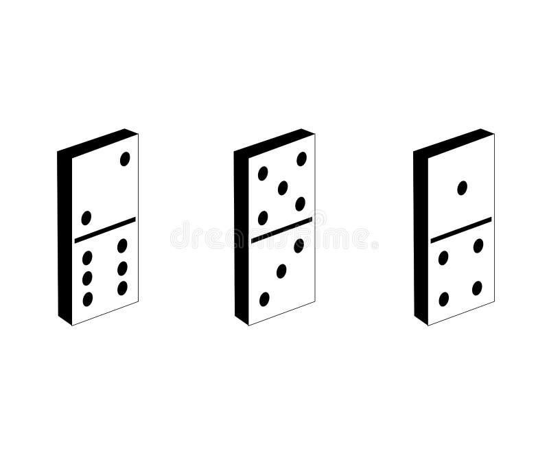 Domino's drie vector illustratie