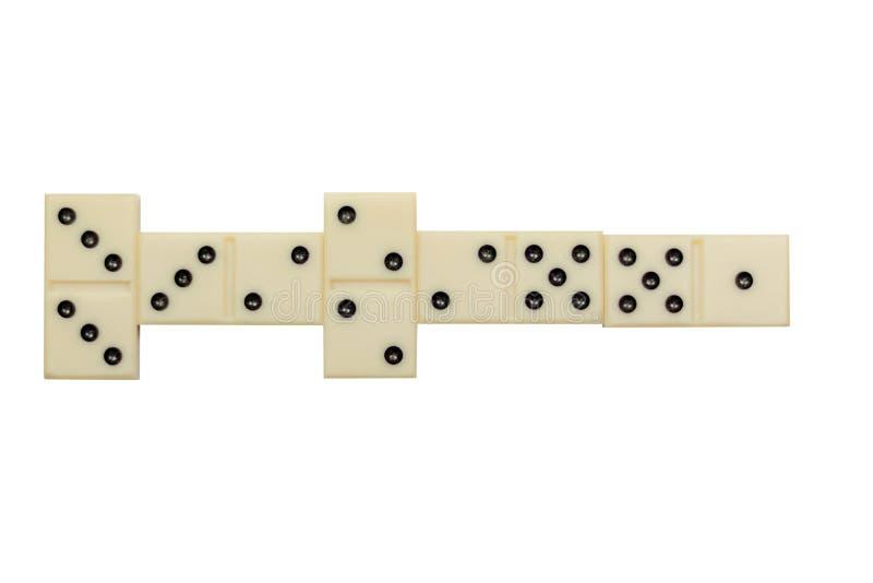 Domino's op een witte achtergrond worden geïsoleerd die royalty-vrije stock foto