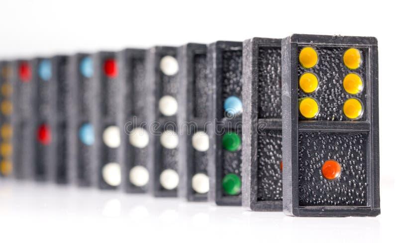 Domino's op Witte achtergrond stock afbeeldingen