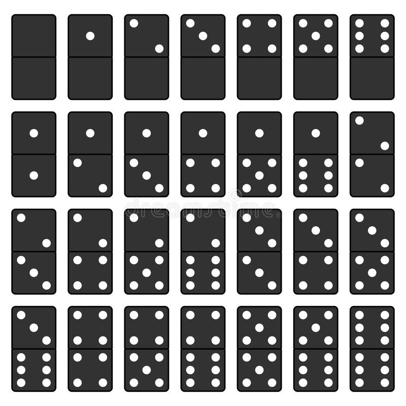 Domino-Schwarzweiss-Satz stock abbildung
