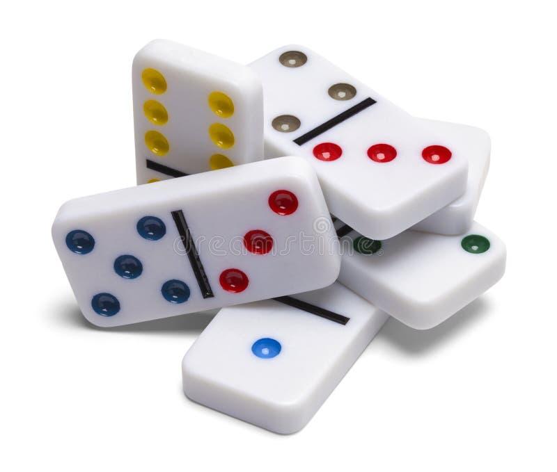 Domino-Stapel stockfoto