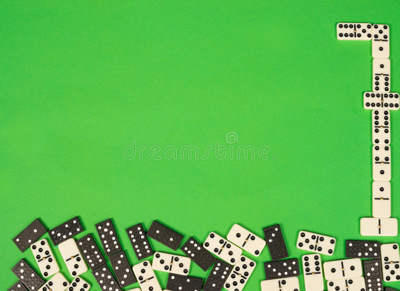 Domino stones stock images