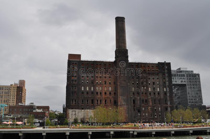 The Domino Sugar Refinery in Brooklyn, New York City royalty free stock photo