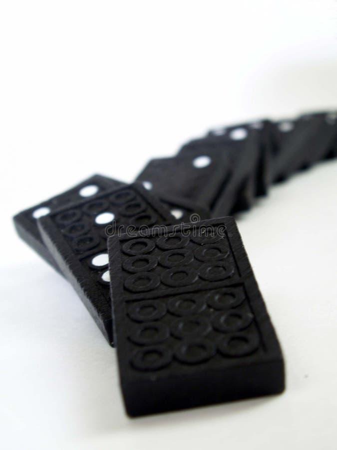 domino w dół fotografia stock