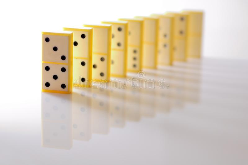 Dominoblöcke stockbild