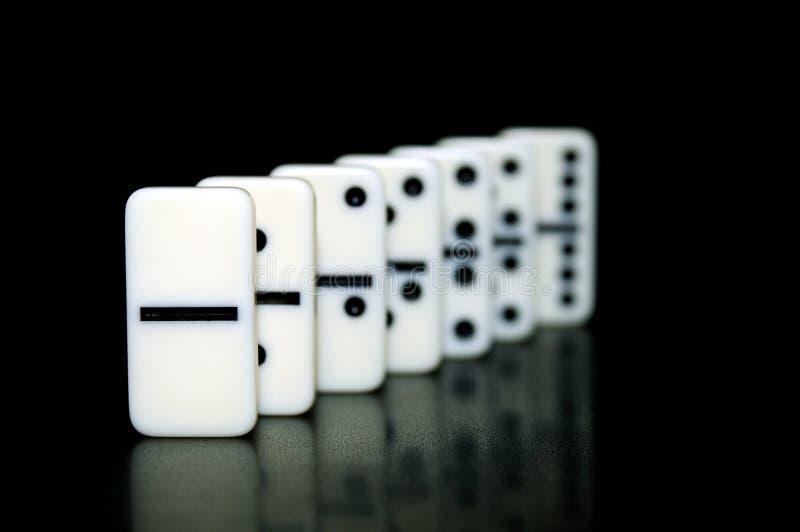 Dominobricka arkivfoto