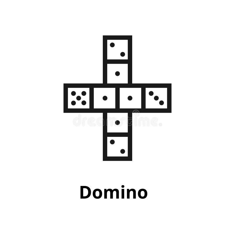 Dominobrickalinje symbol royaltyfri illustrationer
