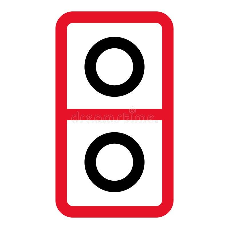 Dominobrickasymbol, översiktsstil stock illustrationer