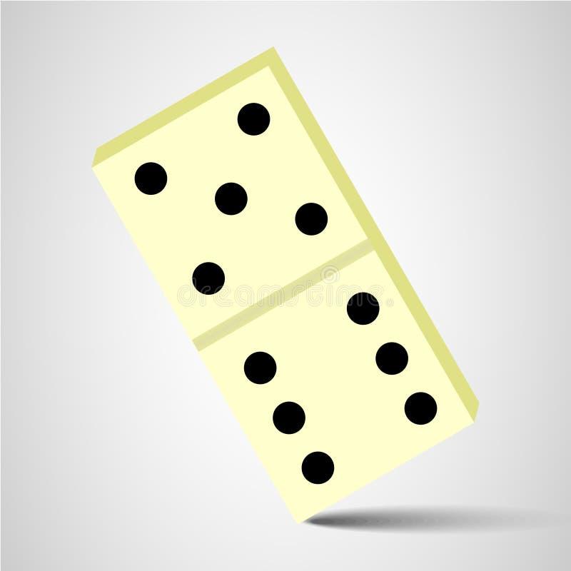 dominobrickasymbol dominobrickatecken royaltyfri illustrationer