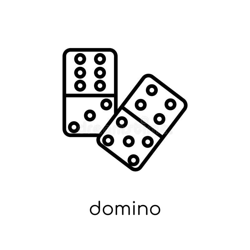 Dominobrickasymbol från gallerisamling royaltyfri illustrationer