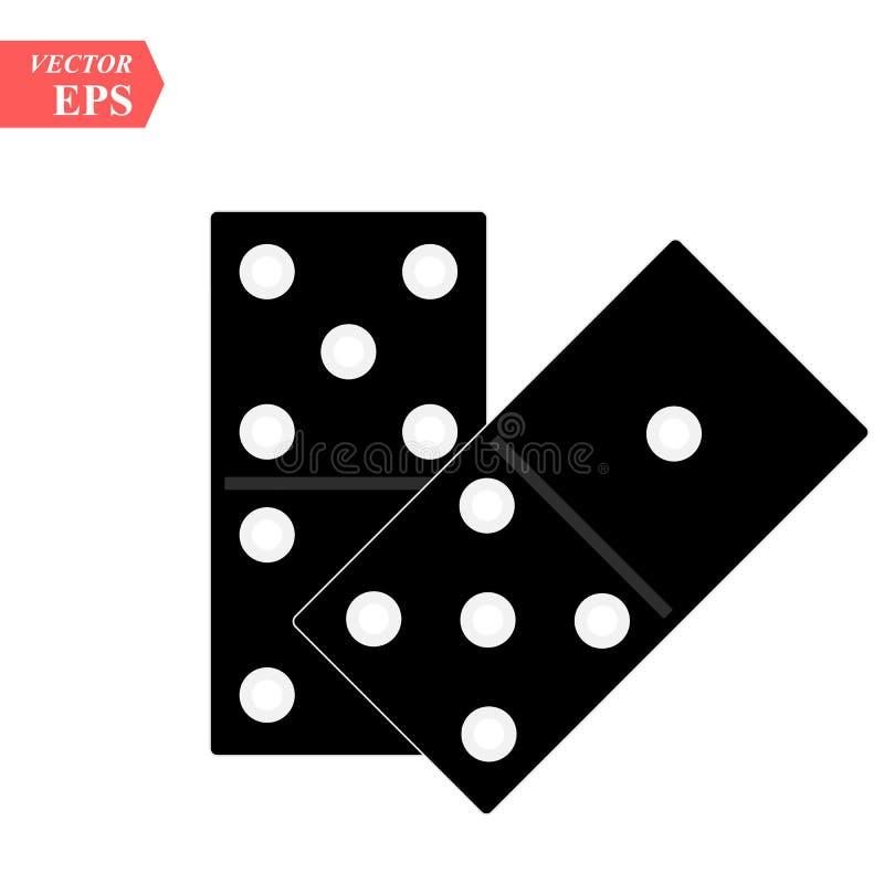 Dominobrickasymbolen som isoleras på vit bakgrund för din rengöringsduk, och mobilen app planlägger, begreppet för dominobrickave vektor illustrationer
