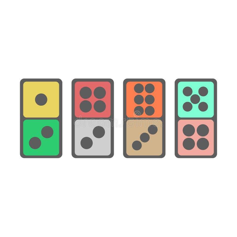 Dominobrickasymbolsillustration royaltyfri illustrationer