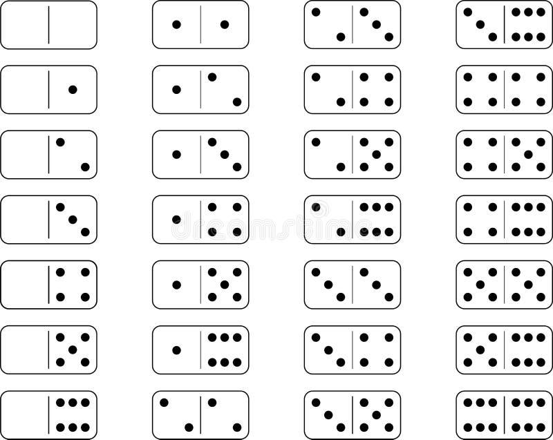 Dominobrickauppsättning stock illustrationer