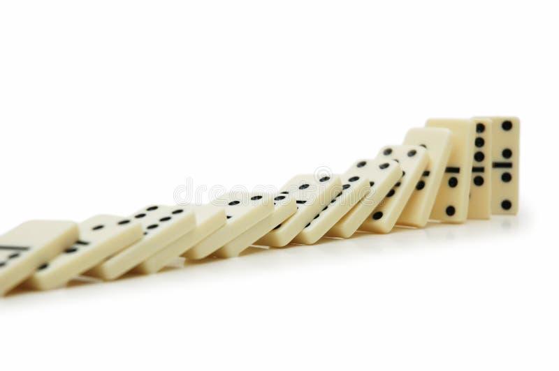 Dominoeffekt stockbilder