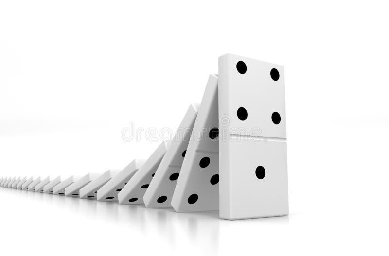 dominoeffekt vektor illustrationer