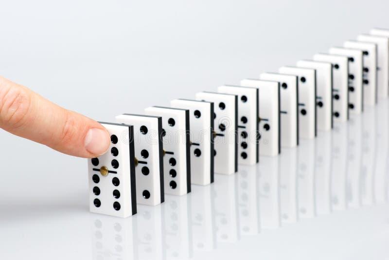 dominoeffekt royaltyfri bild