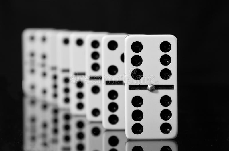 Download Dominoes On Black Shining Surface Stock Photo - Image: 21301450