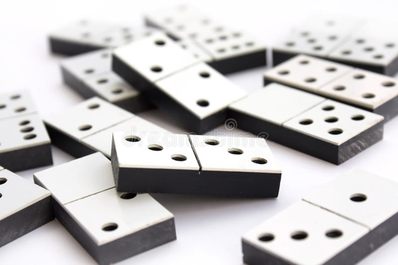 Download Dominoes concept on white stock image. Image of close - 16208433