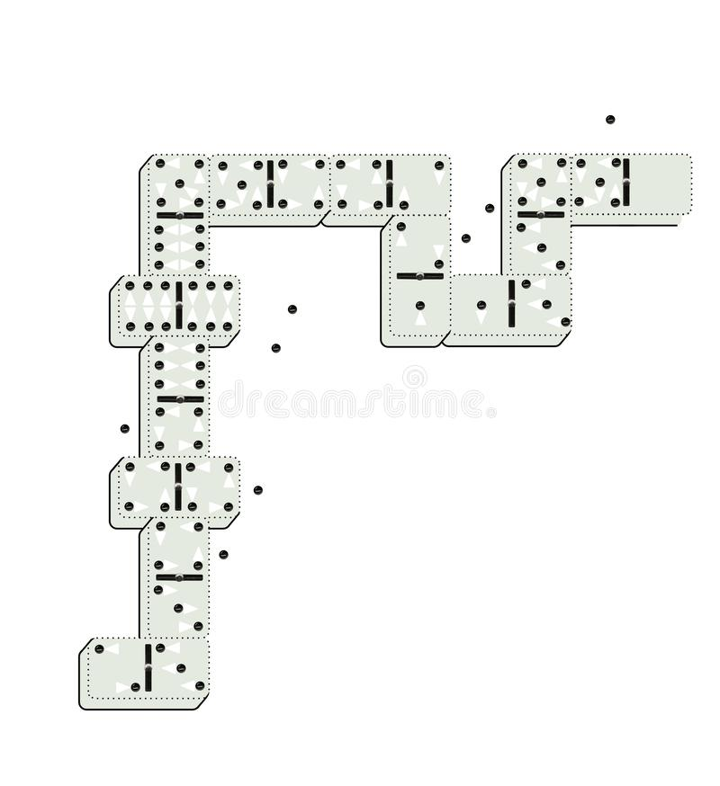 Dominoes with dots in the form of stylized men and women. Crowd. Staff. Isolated on white background.  vector illustration