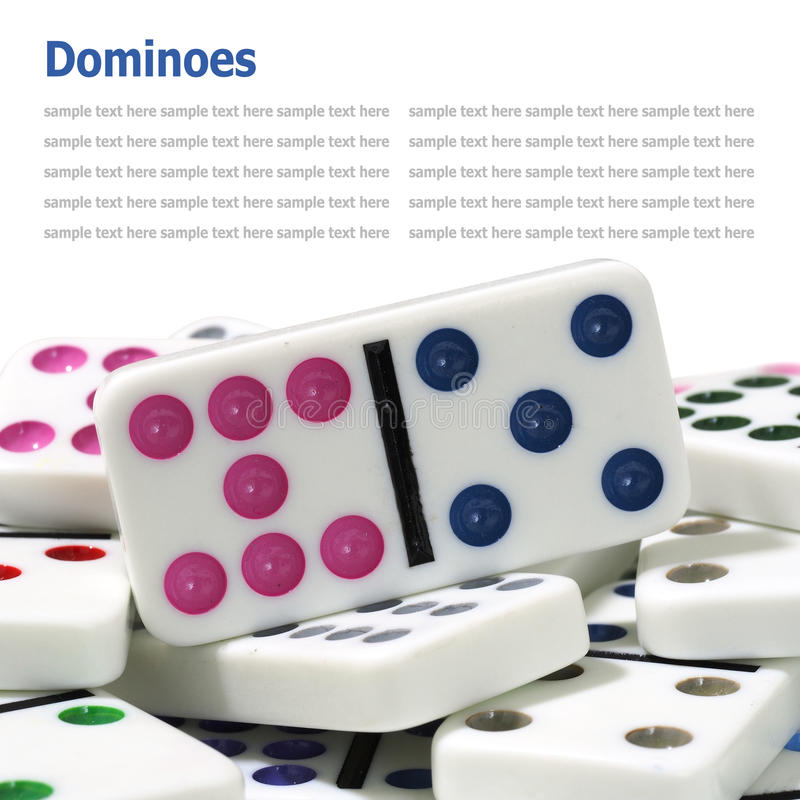 dominoes isolated on white background royalty free stock photography