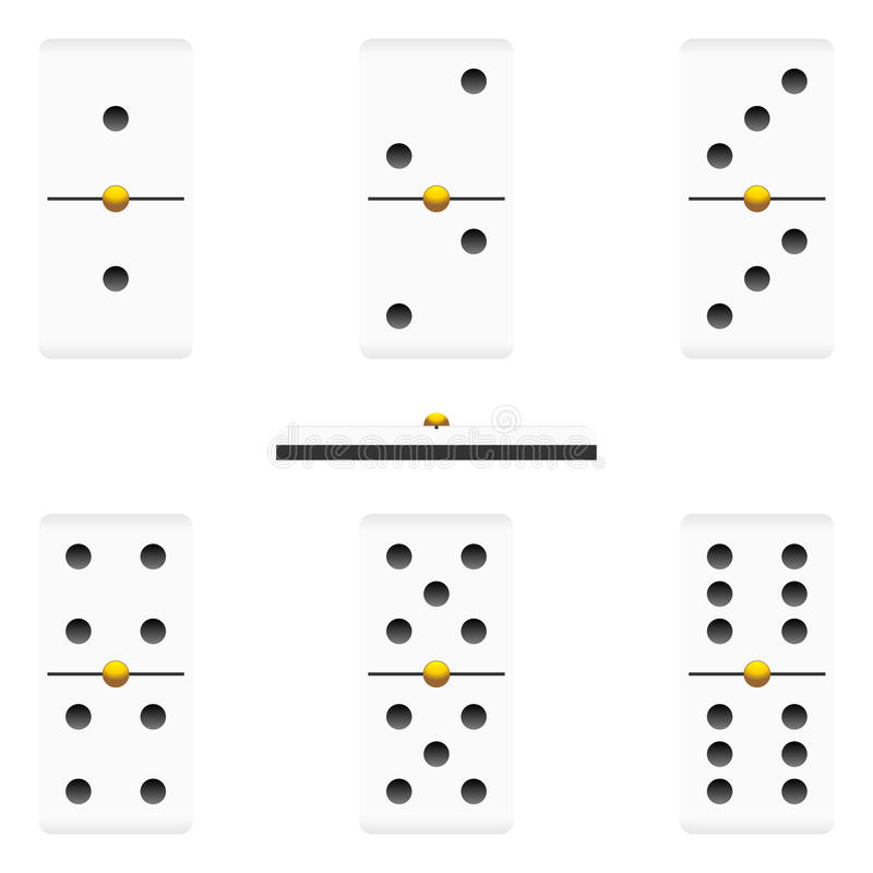 Download Dominoes pieces stock vector. Image of recreation, sport - 21714765