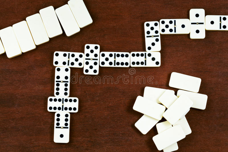 Dominoes playing stock photos